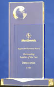 Medtronics Outstanding supplier of the year award
